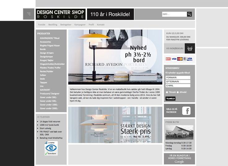 Så kom der nyt og mobilvenligt design på Design Center i Roskilde´s Webshop.