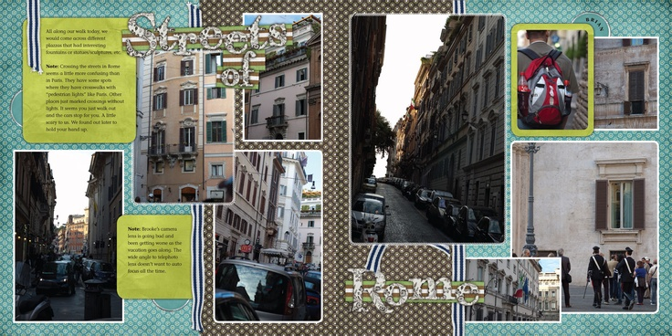 Streets of Rome digital scrapbook double layout