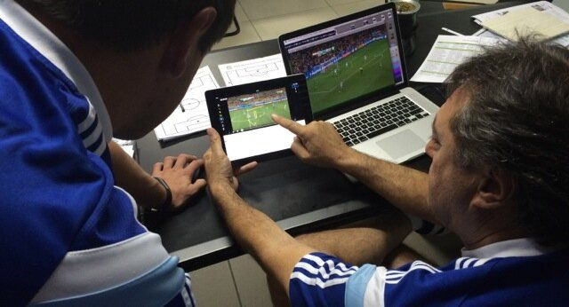 Argentina Football Coaches using #SportstecPlayer #application during #FIFAworldcup