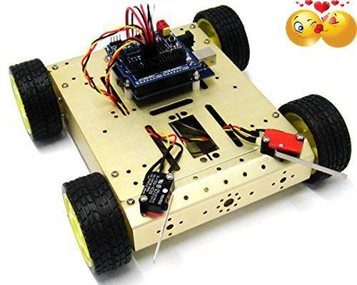 #household 4WD Mobile Robot Kit with Voice #Crash System was produced in 2013. It is designed according to the control subject of previous Undergraduate Electron...