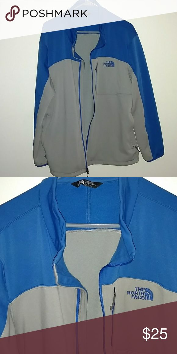 North Face Men's Jacket Gray and Blue North Face Jackets & Coats Lightweight & Shirt Jackets