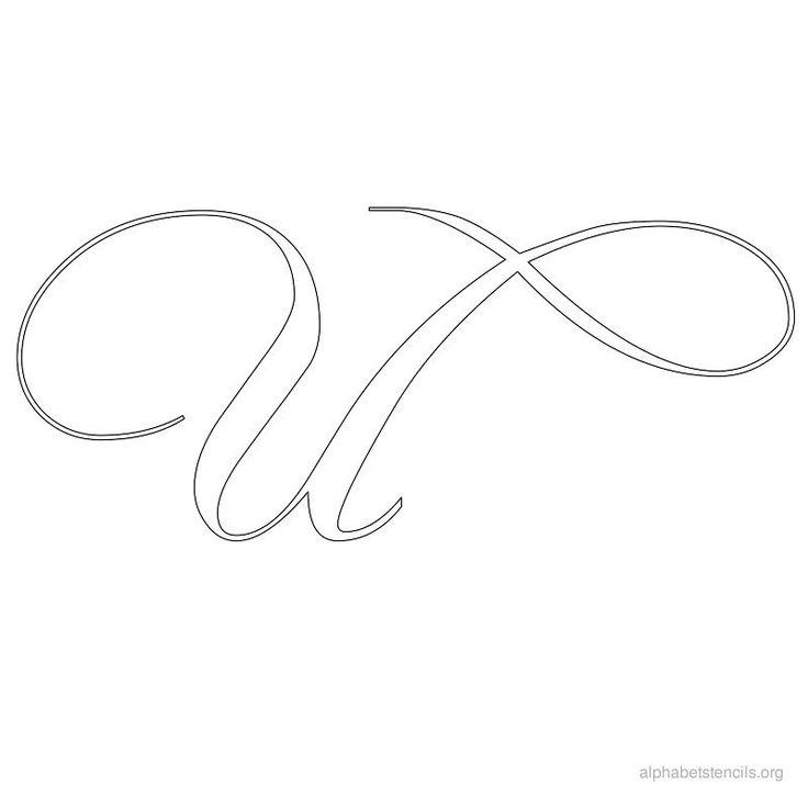 Print free alphabet stencils calligraphy u alfabeto