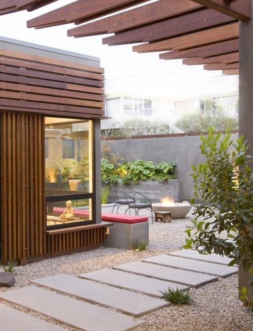 Rock modern garden