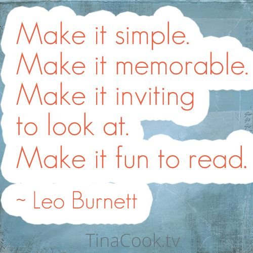 Simple. Memorable. Inviting. Fun. All key components when creating content.