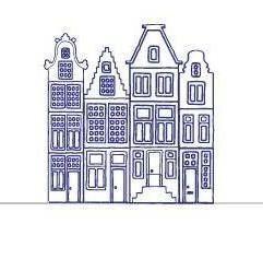 Zuuz Grachtenpandjes muurstickers | ZUUZ Muurstickers | Magic Label