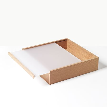 Object Boxes | Unison | Nordic-oak boxes from Maya Bille/Nunabee for Applicata are simple, with surprising dimension; they flaunt acrylic tops for a look you won't mind putting front and center on your counter.