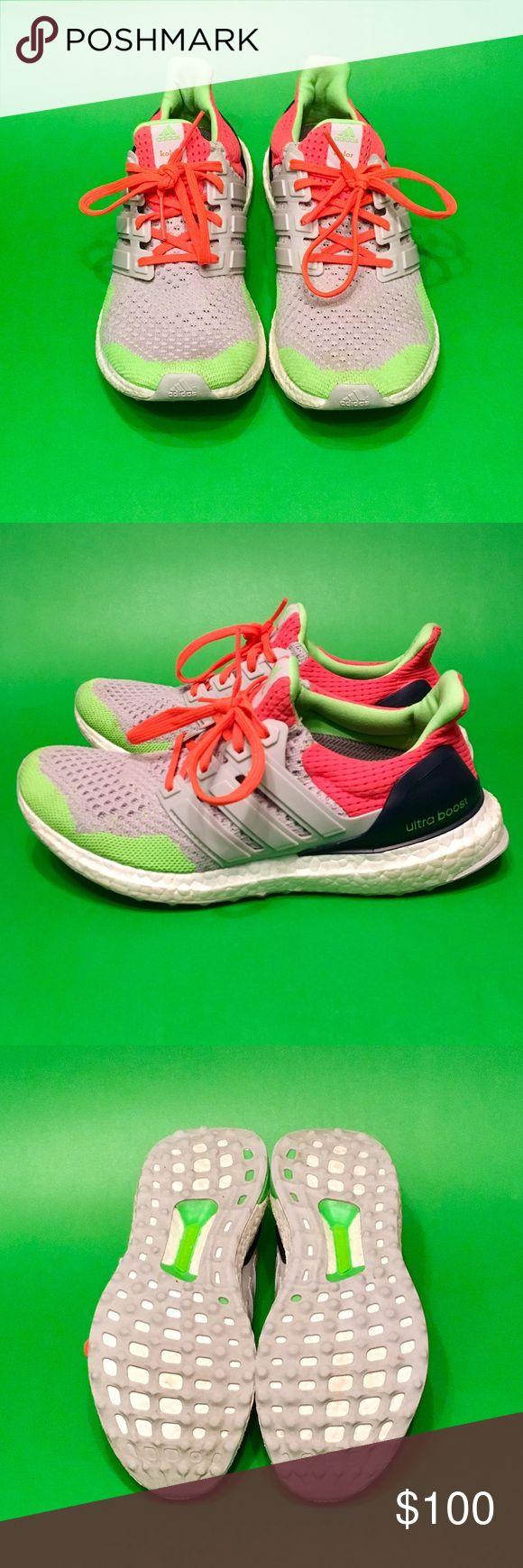 Adidas Ultra Boost Running Shoes Adidas Ultra Boost Running Shoes; worn once Adidas Shoes Sneakers