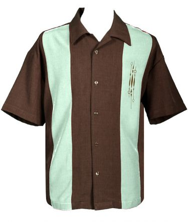 Two Panel Retro Bowling Shirt