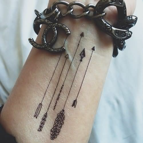 Grey Ink Arrows Wrist Tattoo. 17 Best images about tattoo on Pinterest   Arrow tattoos  Wrist