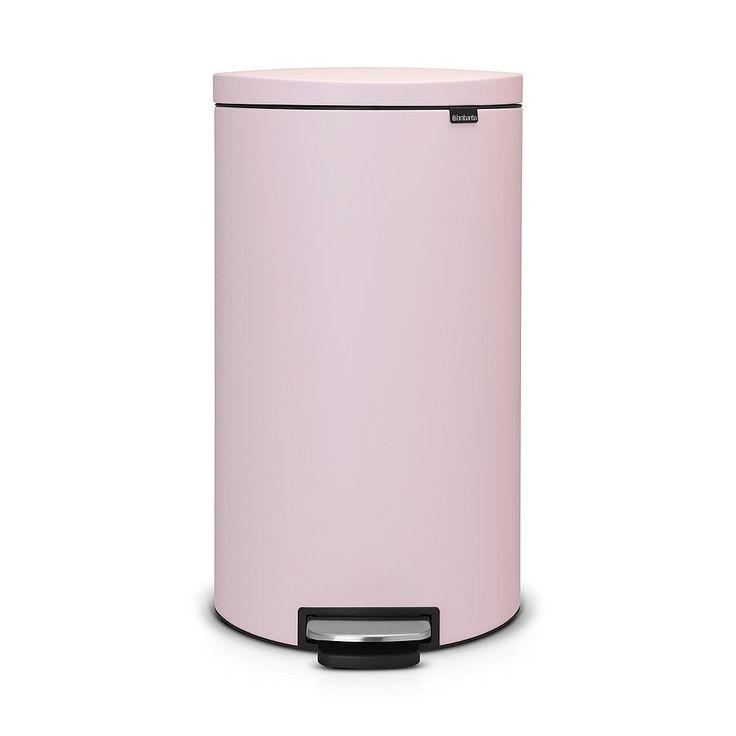 Brabantia Flatback Prullenbak 30 L - Mineral Pink