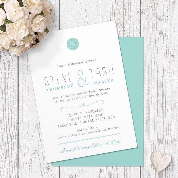 TIFFANY TIE - WEDDING INVITATION