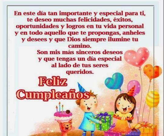 Feliz Aniversario Tia Espanol: Felicidades Karla Denisse Que Te La Pases Super Este Dia