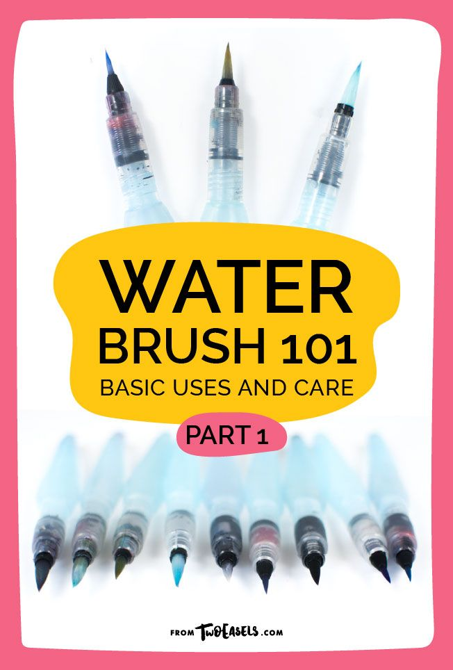 (All product links below are my Amazon Affiliate links.)     So you got yourself a water brush, now what? Well, there are a few things  you can do with it, of course, you can use it to paint beautiful  landscapes, people, abstract art and more, but here, we'll use it for  lettering.  But be