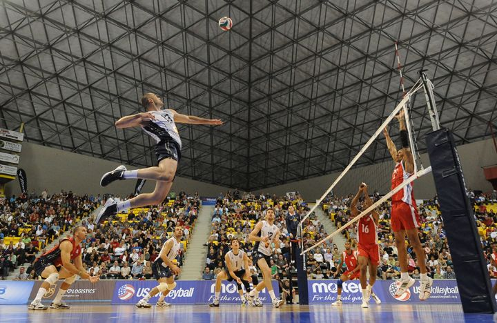 Did you know that some professional volleyball players can hit a #volleyball faster than 80 mph?! S/O to TeamUSA! @USA Volleyball