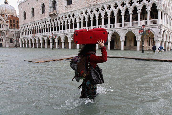 Acqua alta a Venezia: altezza marea 156 centimetri, 1 dicembre 2008