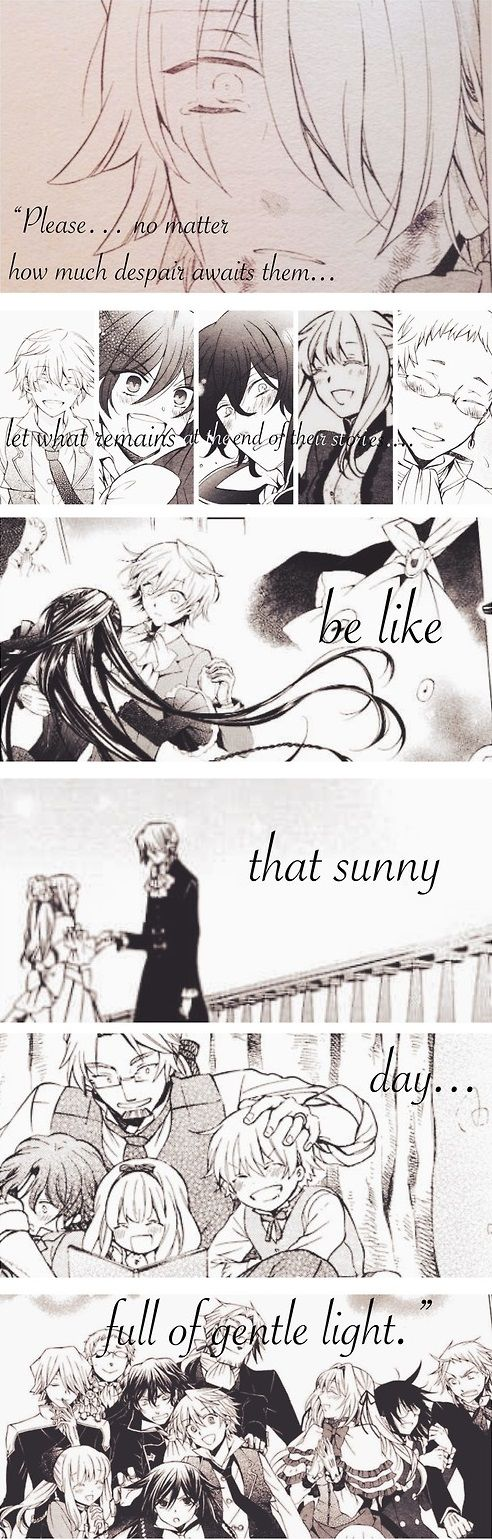 """Please… No matter how much despair awaits them… Let what remains at the end of their stories… Be like that sunny day… Full of gentle light."" - Xerxes Break 