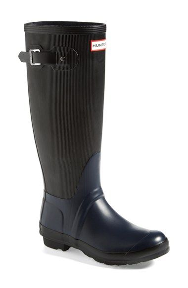 Hunter 'Original - Ribbed' Waterproof Rubber Boot (Women) available at #Nordstrom