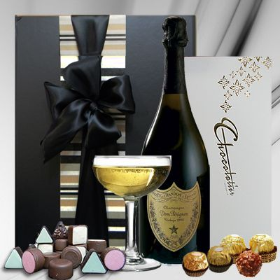 Dom Perignon Luxury Gift Pack.  Dom Pérignon is the most famous Champagne in the world, and for good reason. This gift makes an extravagant statement. Dom Perignon champagne is considered the definition of luxury praised for its well-orchestrated, precise, and full-bodied taste. Gift Delivery in Melbourne, Sydney & Australia $325.00