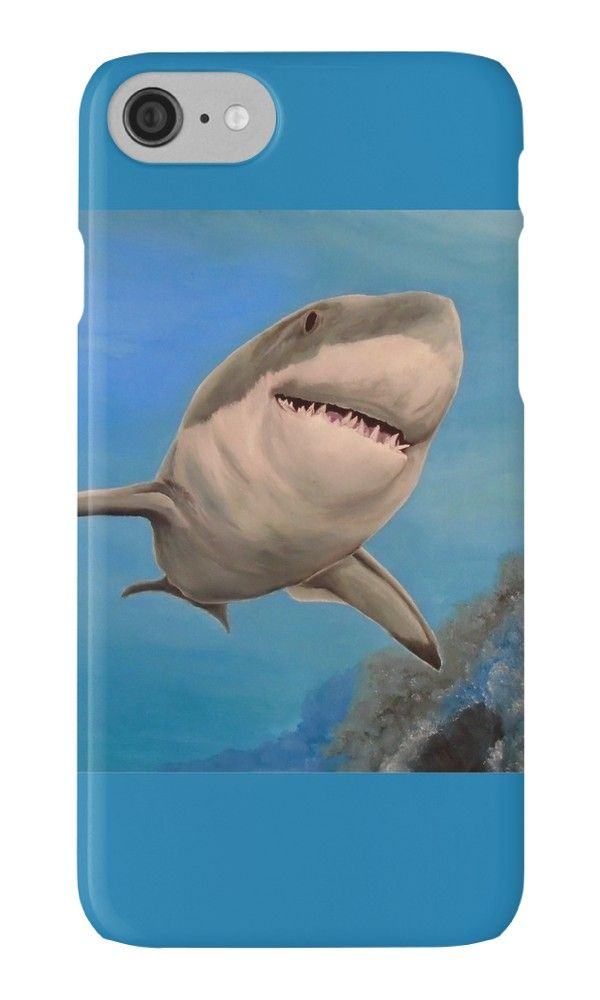 IPhone Case,  aqua,blue,turquois,cool,beautiful,fancy,unique,turquoise,trendy,artistic,awesome,fahionable,unusual,accessories,for sale,design,items,products,gifts,presents,ideas,shark,ocean,wildlife,redbubble