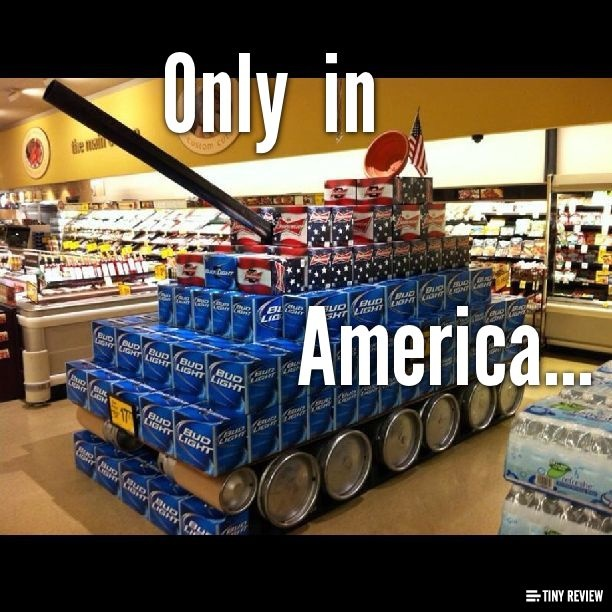 Only  in America...OMG I'm in love. Now that's my idea of a good weekend : )