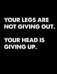 except on those moments I'm nearing the finish line on the 400m and my legs are tensing up and ACTUALLY giving up on me