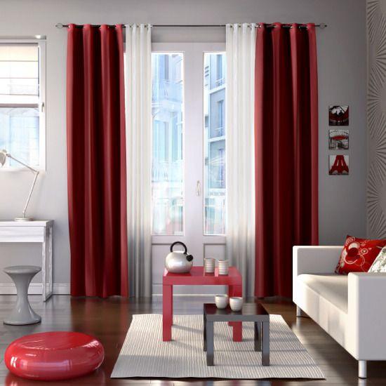 Chambre Winnie L Ourson Pour Bebe Aubert :   Rideaux rouges, Le rideau rouge et Rideaux de cuisine rouge