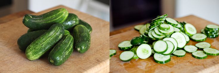 photo of cucumbers for freezer picles