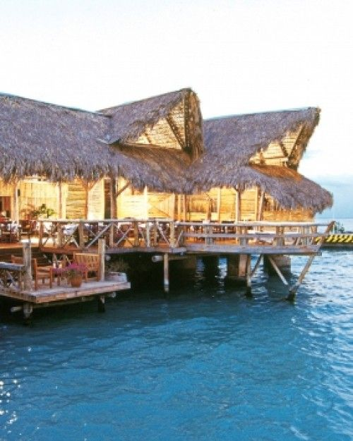 Tortuga Bay  ( Punta Cana, Dominican Republic )  Guests at Tortuga Bay have access to Punta Cana's eight dining options, like the over-water La Yola. #Jetsetter #JSBeachDining