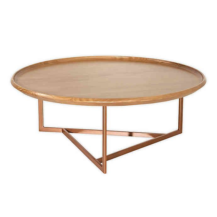 Valentina Round Coffee Table In Cinnamon In 2020 Coffee Table