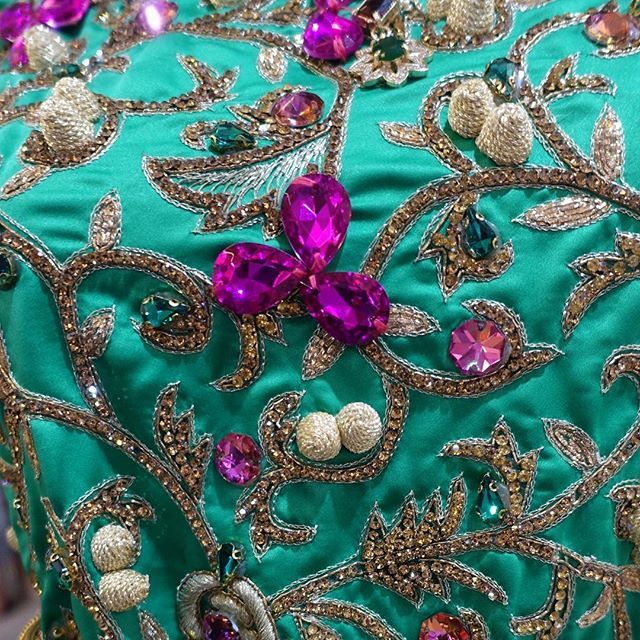 This #bling was across the front of a #beautiful #jellaba #dress here #inmorocco #beading #applique #handsewn #magnifique #amazing #wow #fashion #design #sparkle #instadaily #instacool #instatravel #ig #sewing #byhand #igmasters #stunning #statement #marrakech #moroccobespoke #pink #gold #vscophoto
