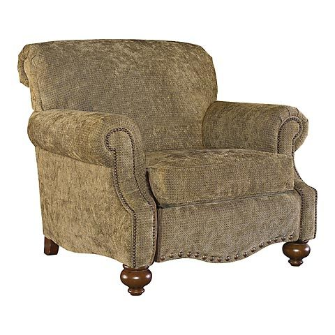 Recliner - The best part about this recliner is that it doesn't look like one. I think recliners intimidate guests. No one wants to settle in the host's recliner. But this recliner is a wonderful, welcoming chair, too. #bassettfurniture