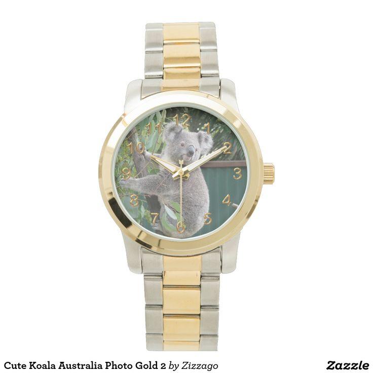 Cute Koala Australia Photo Gold 2 Watches