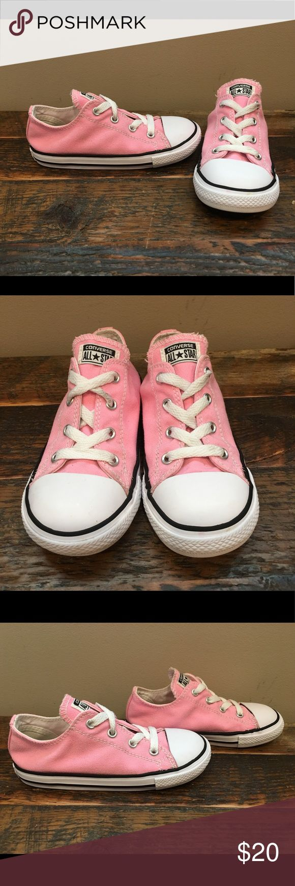 Converse Pink sz 10C Excellent condition, toddler size 10. Just have very small mark on inside of shoe, shown in last pic.  Please check out my closet for more awesome kids items! Converse Shoes