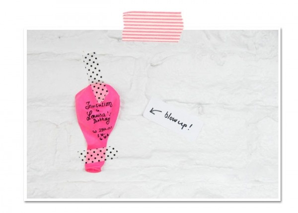 Balloon Party Invite- write the invite on the balloon and attach it to a card!