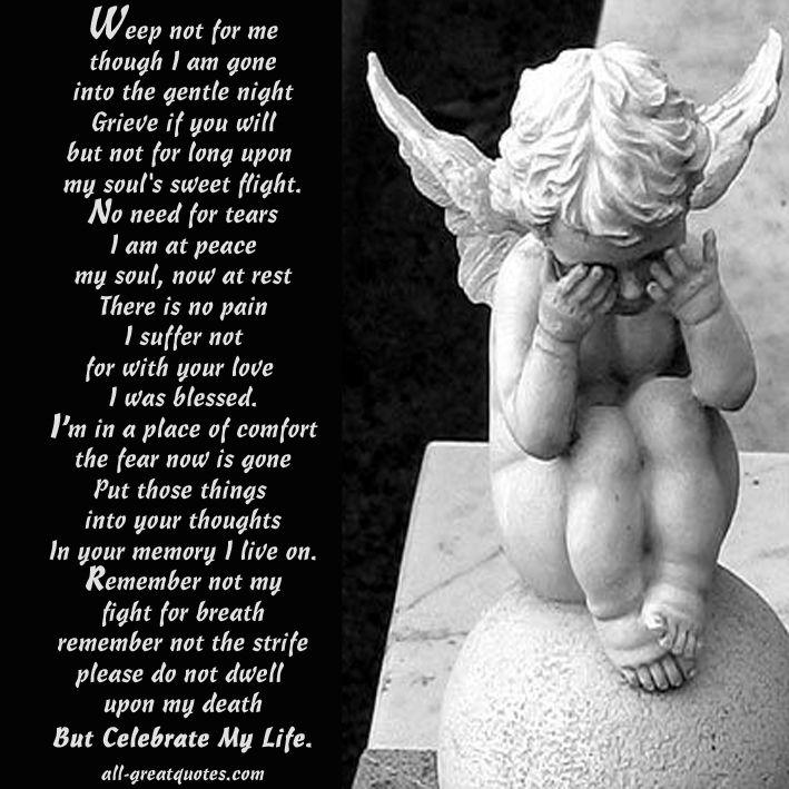when i am gone poem funeral poem - Google Search