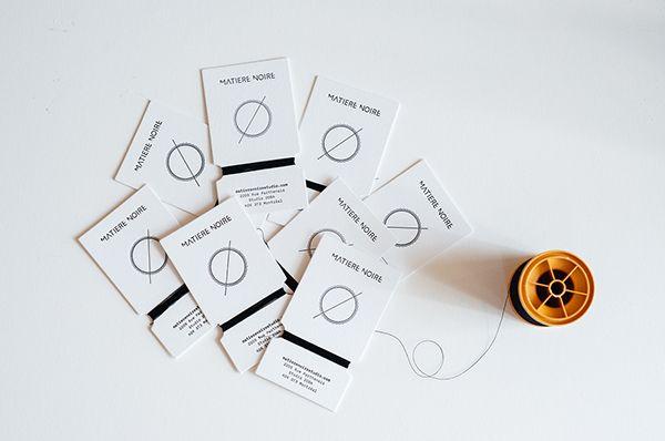 Matière Noire Handmade Business Card on Behance