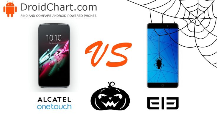 The side-by-side comparison of the Alcatel Idol 3 5.5 and Elephone P9000 smartphones. #smartphone #comparison #AlcatelIdol35.5 #Elephone #P9000