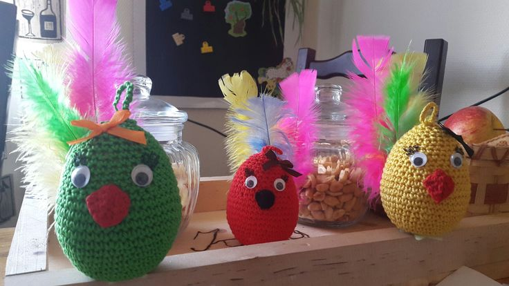 crocheted eggs. Easter