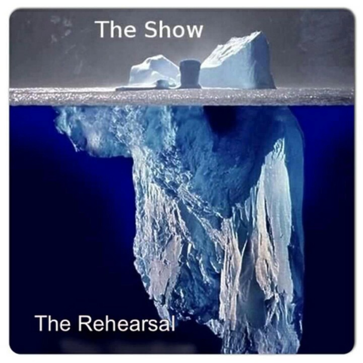 There is so much hard work that goes into a concert or production...