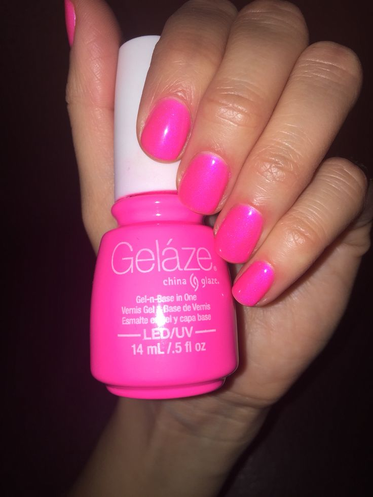 Pink Voltage China Glaze nails