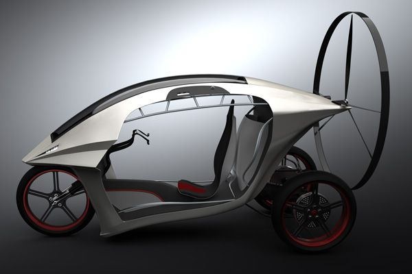 An ultralight electric vehicle that goes from a scooter to an elegant powered paragliding trike, in a jiffy! #YD #YankoDesign