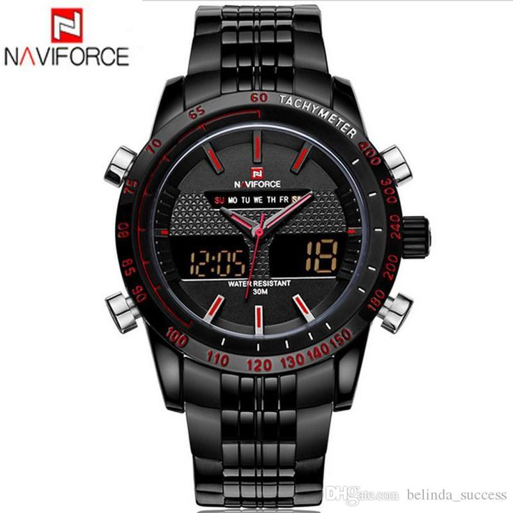Naviforce 9024 Brand Watches 3atm Original Fashion Design Analog Digital Led Casual Watches Stainless Steel Dual Time Zone Watch Nice Watches Low Price Watches From Belinda_success, $27.68| Dhgate.Com