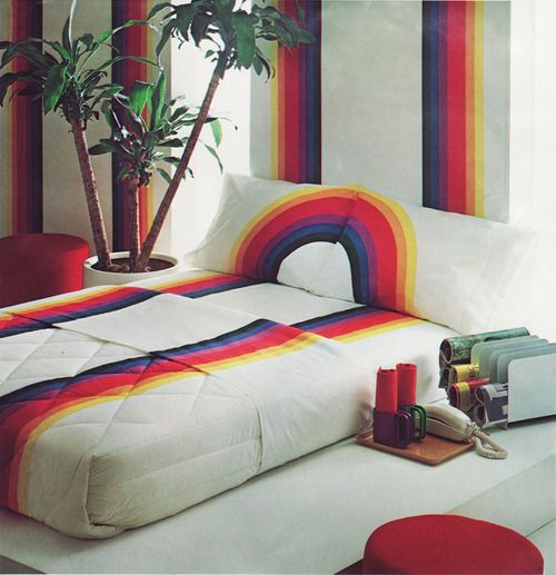 Tomorrows Rainbow Sheet Set From Wamsutta Circa