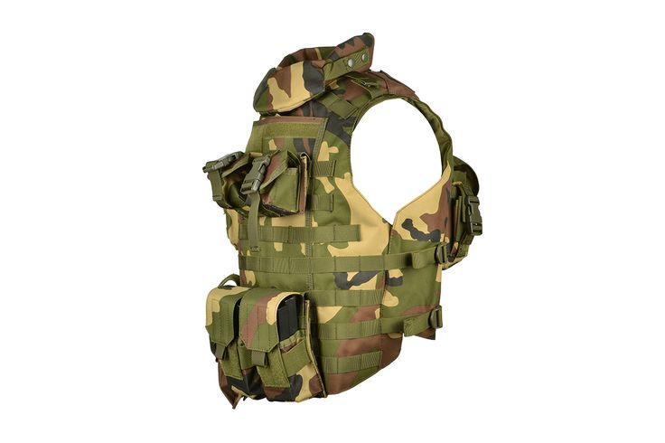 AMA MOLLE Interceptor Body Armor OTV - WOODLAND | Airsoft Megastore