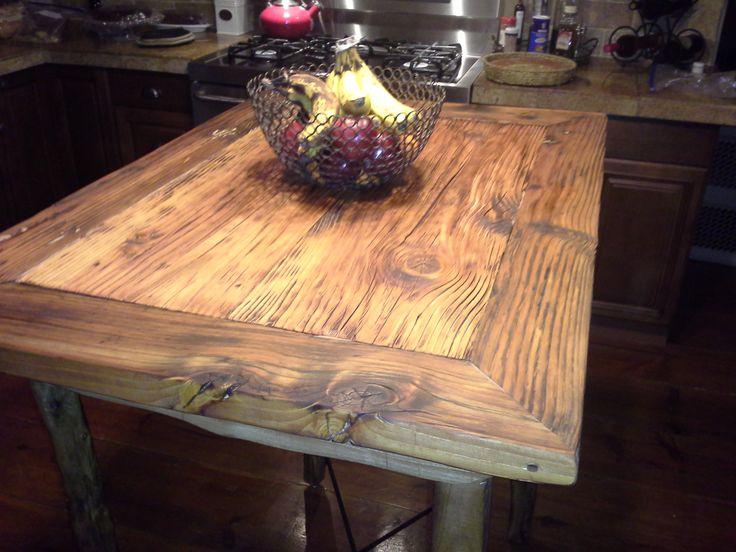 Bar Table made from old construction planks on top and the base and legs  are made from Avocado wood  Both went through the 07 Witch Creek fire  some. 24 best Rustic Tables from Wentzel Wood Designs images on