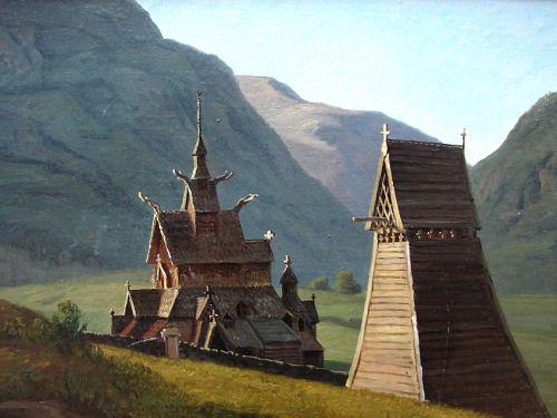 laclefdescoeurs:  Stavkirken, Borgund, 1833, Martinus Rørbye