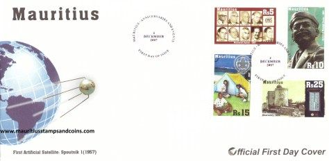 2007 Mauritius Stamps First Day Covers - FDC - Anniversaries & Events