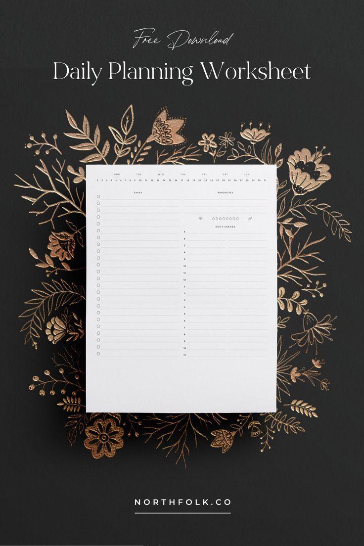 Northfolk Daily Printable Welcome To Northfolk In 2020 Daily Printable Planner Free Daily Planner