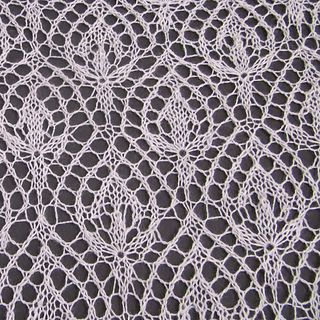 """Pattern is available as a free Ravelry download: variation on one of a beautiful Haapsalu shawl motif: """"Waterlily."""""""