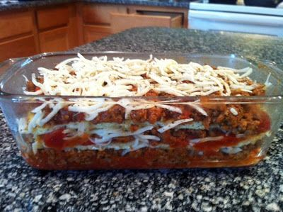 """Just like the real thing"" No Noodle Lasagna - Low Carb, Primal"